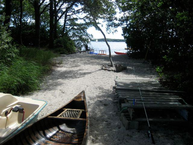 Beach from Black Pond toward Long Pond - Lakefront overlooking Long Pond with private beach - Harwich - rentals