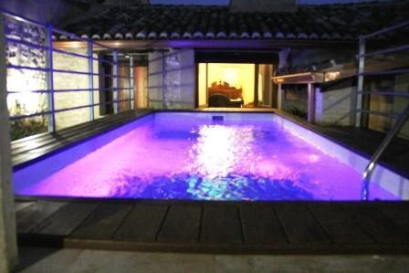 Crystal Pool by Night - Grand 9 bedroom home with private swimming pool - Palomar - rentals