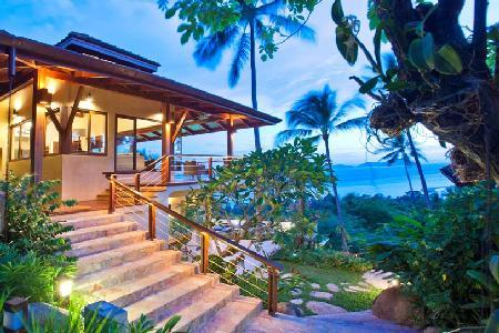 Multi-level Baan Silavaree with saltwater infinity pool, private driver, lush garden with waterfall - Image 1 - Koh Samui - rentals