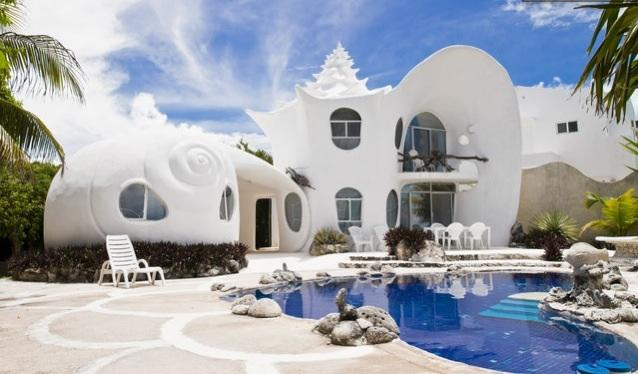THE SEASHELL HOUSE  - The Seashell House...  famous worldwide - Isla Mujeres - rentals