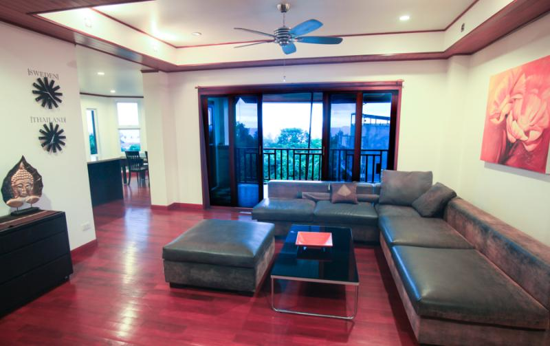 living room area - 3-bedroom Luxury apartment 3-bathroom 210sm #3 - Koh Lanta - rentals