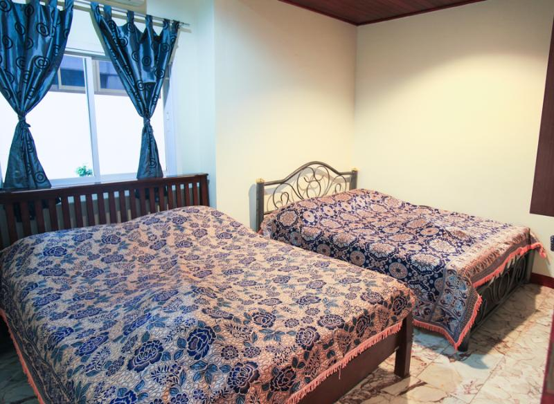 Two full size beds are in the bed room - 1 bed room apartment 45sm infront of swiming pool - Koh Lanta - rentals