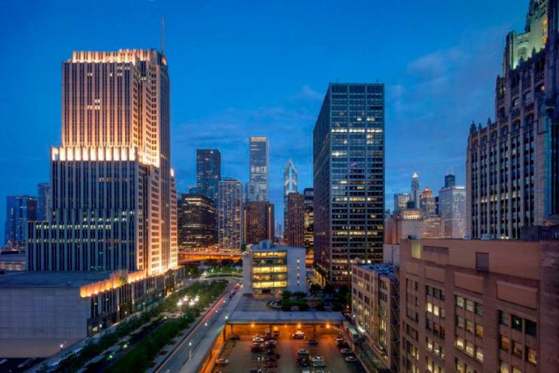Actual View From The Master Bedroom - Luxury 2 Bedroom Penthouse 3 Beds On Michigan Ave! - Crystal Lake - rentals