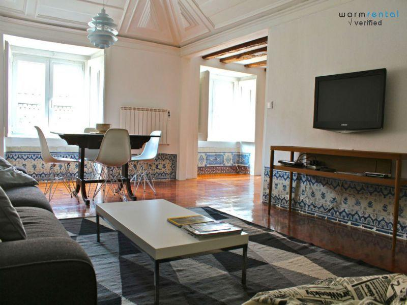 Living Room  - Angelica White Apartment - Lisbon - rentals