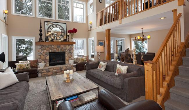 Main Living Area with 18' Ceilings - Fairview Chalet | Whistler Platinum | Golf/Ski - Whistler - rentals