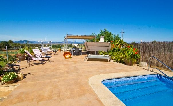 Villa with sea and mountain view for 7  people on a hill in the north of Mallorca - ES-1078346-Muro - Image 1 - Muro - rentals