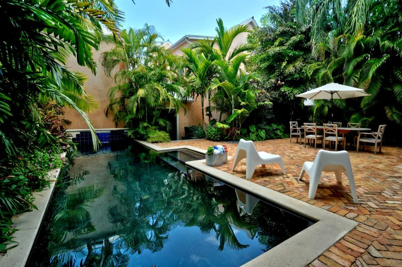 "Your own private tropical courtyard and black bottom pool steps from world famous Duval Street - Key West Vacation Rental ""CLOUD 9"" Luxury on Duval - Key West - rentals"