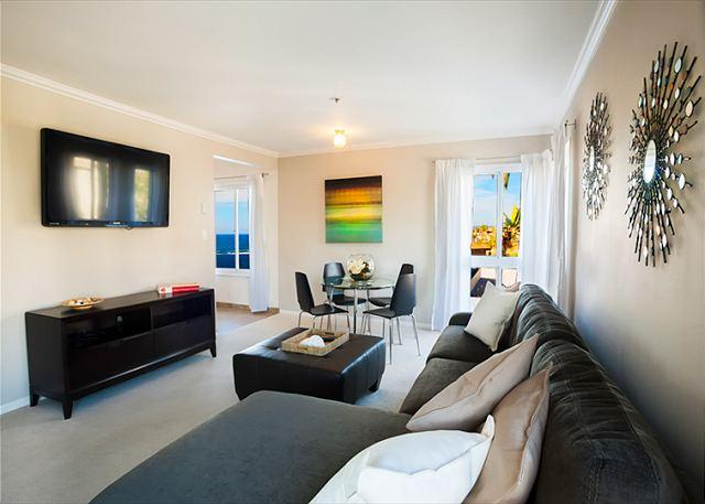 Ocean view living room with 52