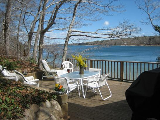 View from Deck - HANER - Waterfront, A/C, Wifi - Vineyard Haven - rentals