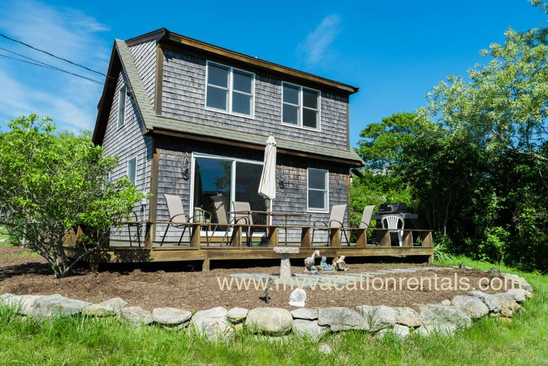 View of Side of House and Deck - FENNB - Menemsha - rentals