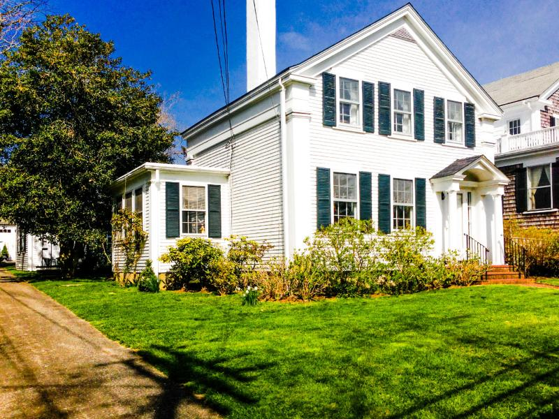 Exterior of House - RITTG - Greek Revival Retreat, In Town Location, Fine Decor Details Throughout, A/C most Rooms, Wifi - Vineyard Haven - rentals
