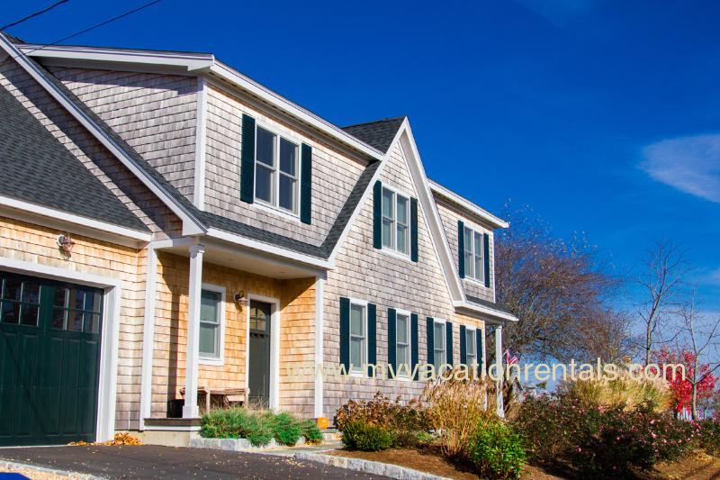 Entry Side of House - KREBJ - Stunning Summer Home, Walk to Town, Central A/C, 4 TV's, Nicely Landscaped - Vineyard Haven - rentals
