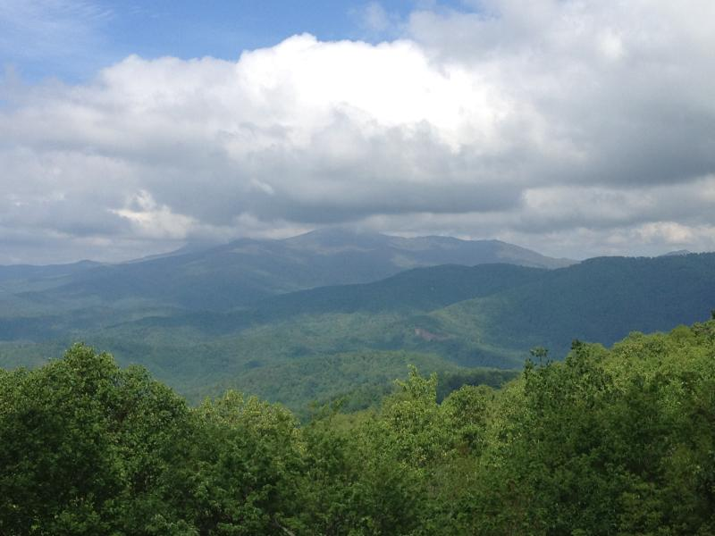 View from the deck out to Grandfather Mountain - Rocky Knob Retreat in Blowing Rock - Sleeps 8 - Blowing Rock - rentals
