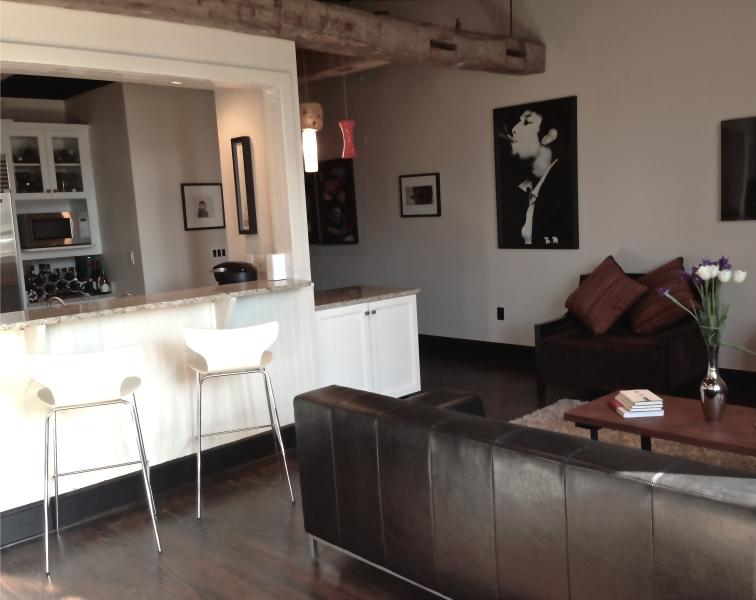Spacious living area with breakfast bar - Luxury Loft Apartment on King St 1bedroom/ 1bath - Charleston - rentals