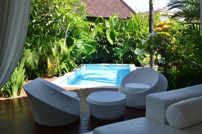 swimming pool located next to living area - Bali Villas R us - 2 bedrooms cute design villa seminyak - Seminyak - rentals