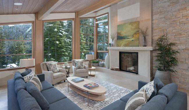 Formal Living Area with Fireplace and Scenic Views - Kadenwood 2963 | Whistler Platinum | Ski-In /Ski-Out - Whistler - rentals