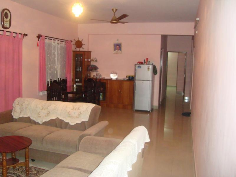 hall and dining - 3bhk  flat for rent in chicalim,goa - Vasco da Gama - rentals