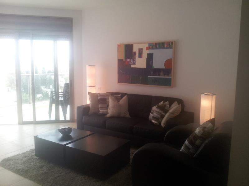 Living room  - New apartment with parking in north Tel Aviv! - Tel Aviv - rentals