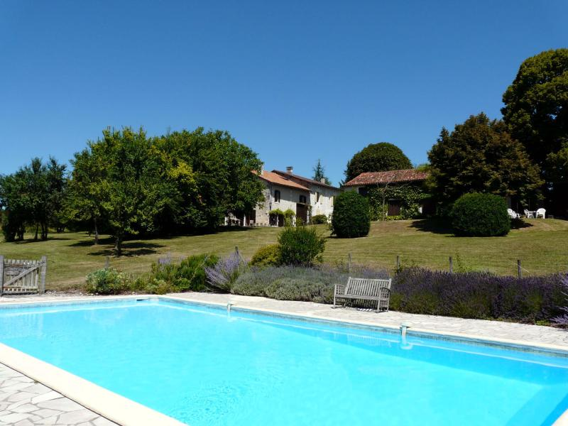 'Les Grues' fom the pool - Beautiful Converted Barn with Shared Swimming Pool - Dordogne Region - rentals