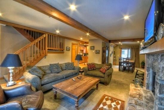 Large Living Area With Flat Screen TV, Gas Fireplace - Waterford 17 - Steamboat Springs - rentals