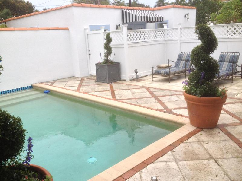 Pool with Guest House in background - Beautiful Spanish Style Rental - West Palm Beach - rentals