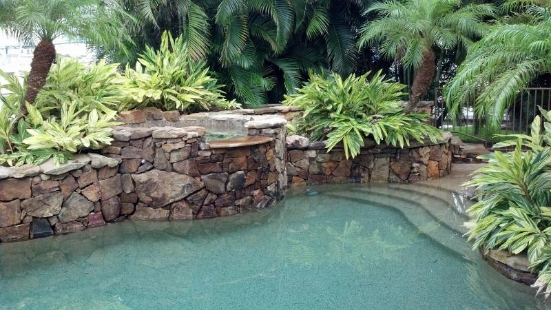 Tropical Pool and Hot Tub - █ Tropical Island Hacienda █ Bayfront Luxury Estate - Fort Myers Beach - rentals
