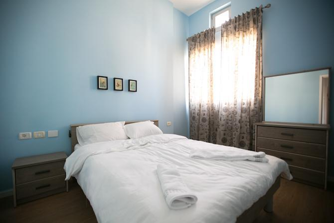 1st Bedroom: Double Bed - 2BD + 2BATHROOM On Hayarkon St - Gedera - rentals