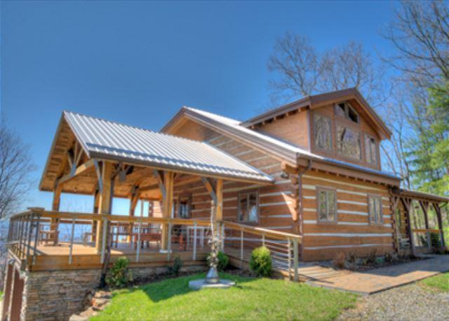 Skyline Log Cabin at Reems Creek - Weaverville Cabin Rentals - Image 1 - Weaverville - rentals