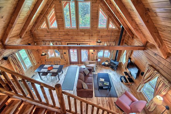 A view from the loft - Marsh Hollow: Shadyside Cabin in the Hocking Hills - Laurelville - rentals