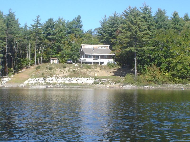 Picture from the Lake on a canoe looking at the cottage - Lovely Family Cottage on PON HOOK Lake - Caledonia - rentals