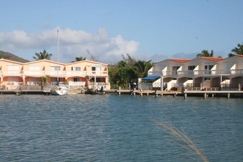 View of the house from a boat - Lovely 2 bed waterfront villa - Jolly Harbour - rentals
