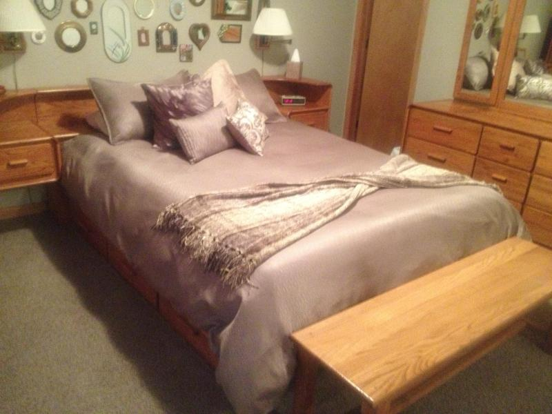 Second floor bedroom with queen bed and lots of storage. - Anchorage Oasis Condominium - Anchorage - rentals