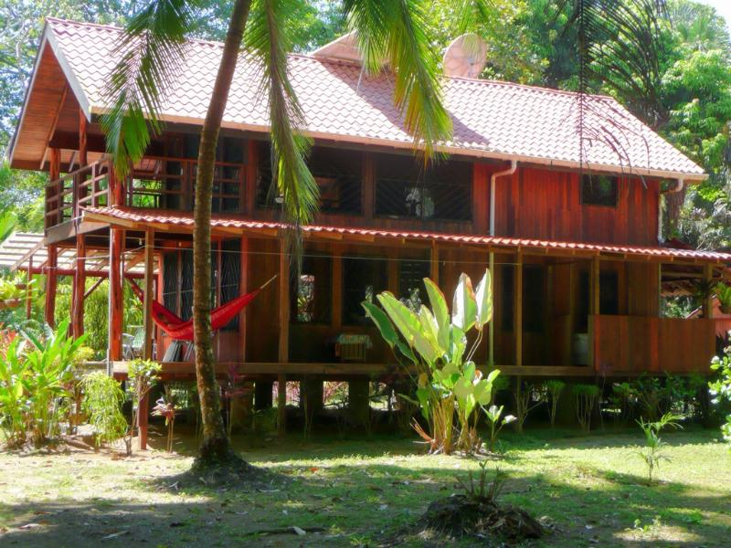 East side of Casa, Shade Deck - PLAYA LAPA--A Private Jungle-Beach Retreat Rental - Carate - rentals
