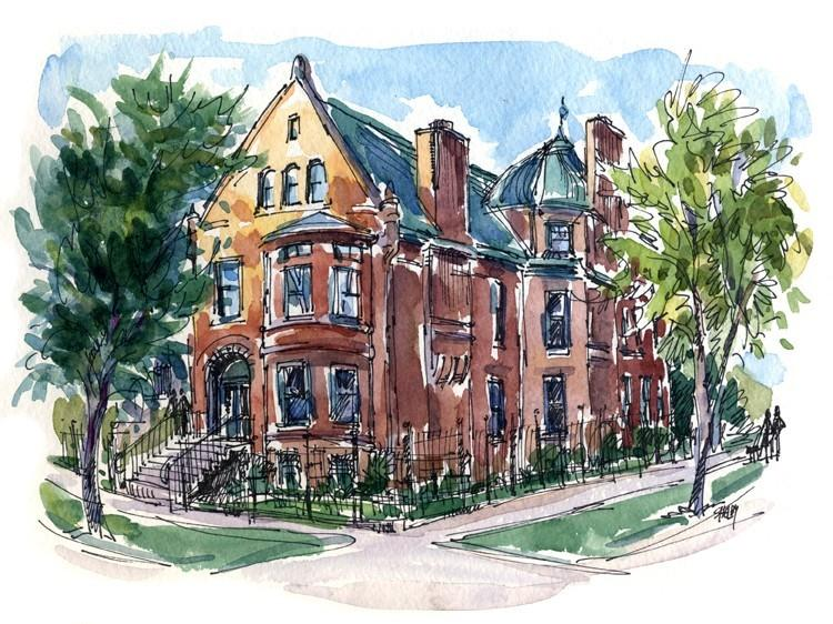 Illustration of Historic House- B&B - Family & Group Accommodations on 3rd Floor Apartment in Historic Home - Chicago - rentals