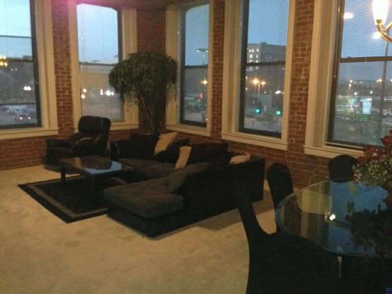 Amazing View Of Old Market From Huge Windows - Old Market Loft For Rent-College World Series - Omaha - rentals