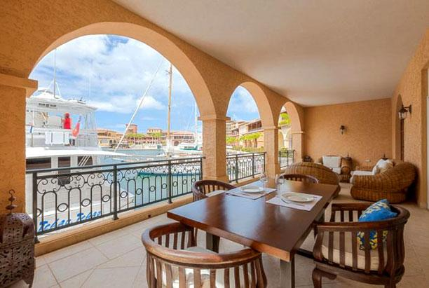 St. Martin Villa 167 A Very Comfortable Waterfront Terrace With Dining And Lounging Areas. - Image 1 - Cupecoy Bay - rentals