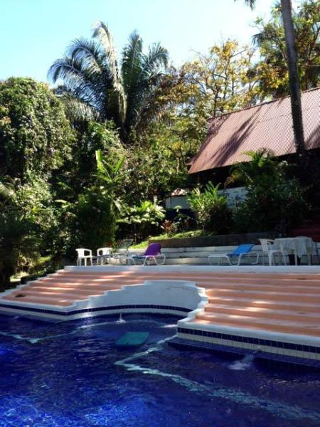 The gorgeous pool and cabana - Enchanted Rainforest Bungalow by the Pool - 16 - Ciudad Colon - rentals