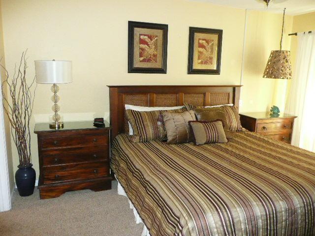 Sink into the master suite - king size bed with access to the balcony. - LOCATION PLUS! Gold Star Gulf View 2 Bedroom - Miramar Beach - rentals