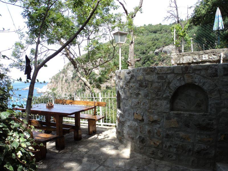 Terrace in first line - Apartment in stone house in first line - Rezevici - rentals