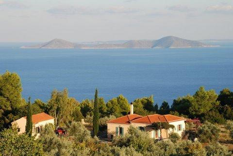 Maria House is the small one to the left - Maria House – in the heart of Alonissos nature - Alonnisos - rentals