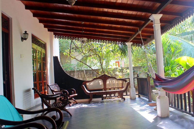 large veranda with garden, chill area and hammok - Villa Summer Style 4+2 - Weligama - rentals