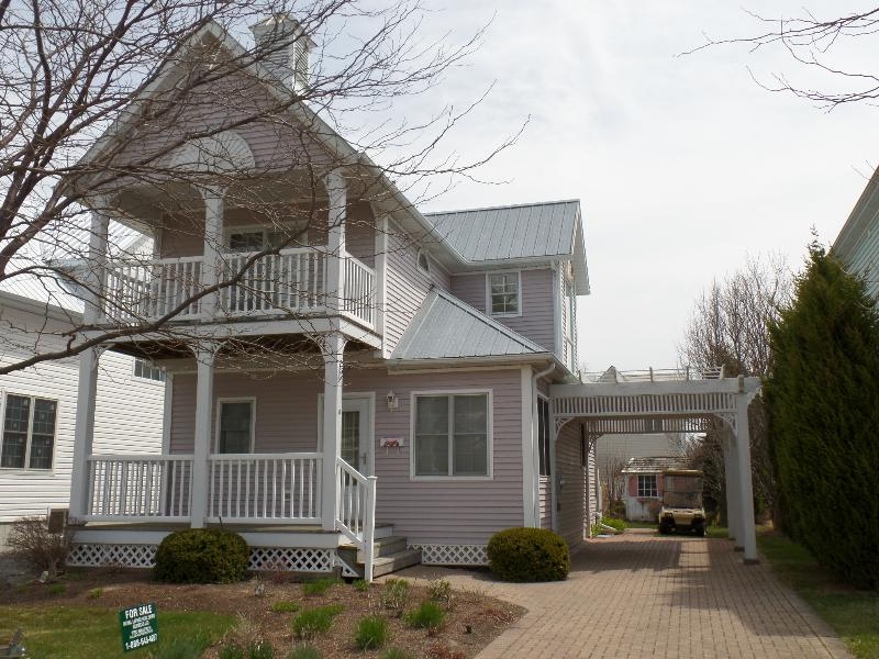 Front of home with gorgeous double balcony - Private Beach House - Amazing Fall Rates! - Crystal Beach - rentals