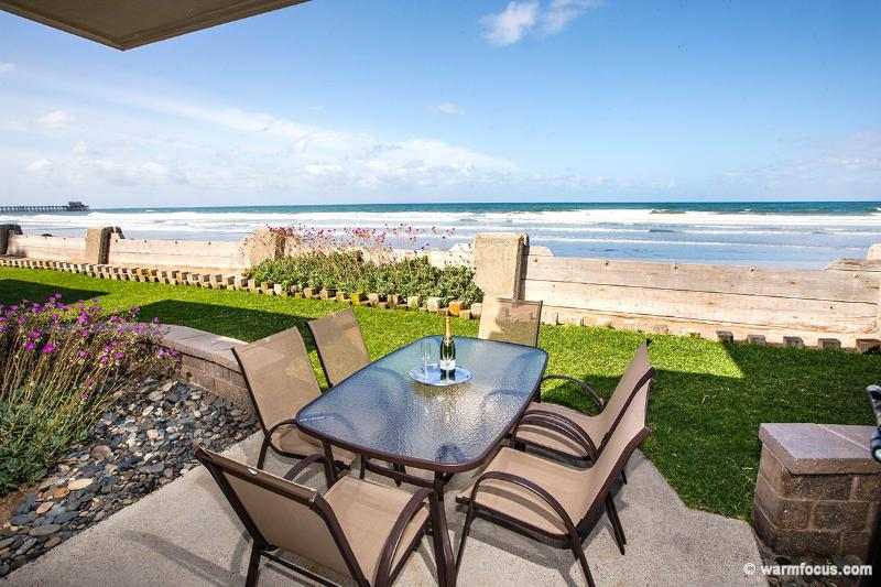 Your own oceanfront patio! - Ultimate Beach Front Cottage~Oceanfront Patio & Yard! - Oceanside - rentals