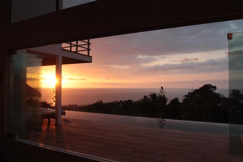 The Pool at Sunset - Total Privacy overlooking the Pacific Ocean - Mal Pais - rentals