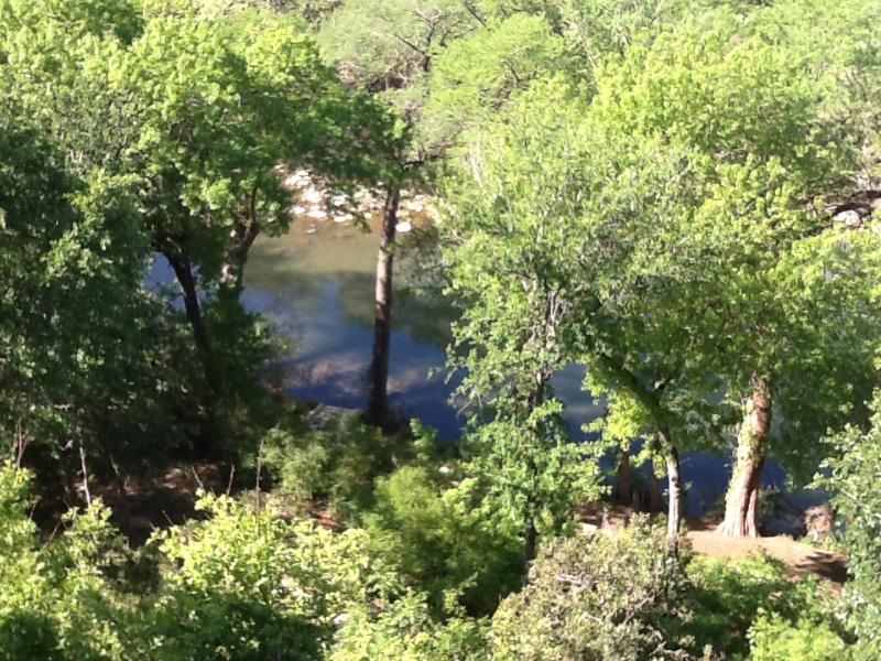 River view from deck - Penthouse in gruene - New Braunfels - rentals