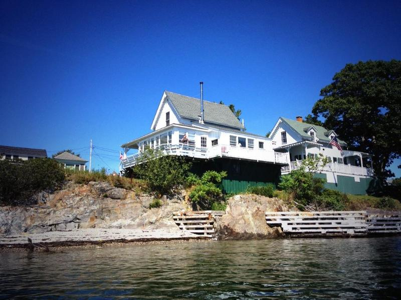 View from the ocean - Picturesque Victorian Cottage on Merriconeag Sound - Harpswell - rentals