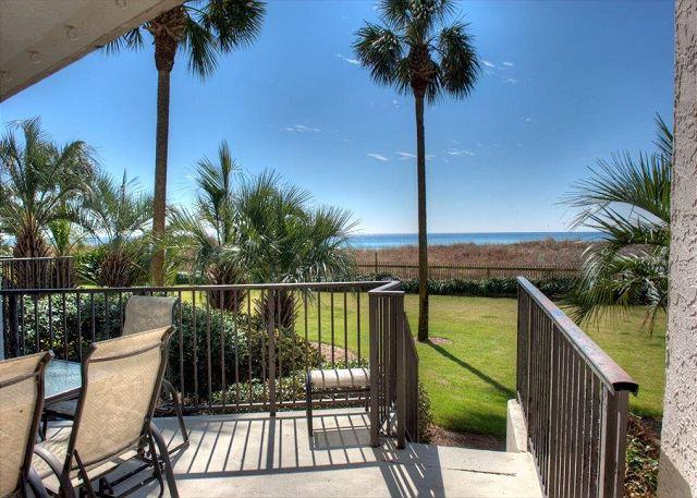 View  of the Gulf of Mexico from the back patio - Experience breathtaking beach views just steps from your private patio! - Sandestin - rentals
