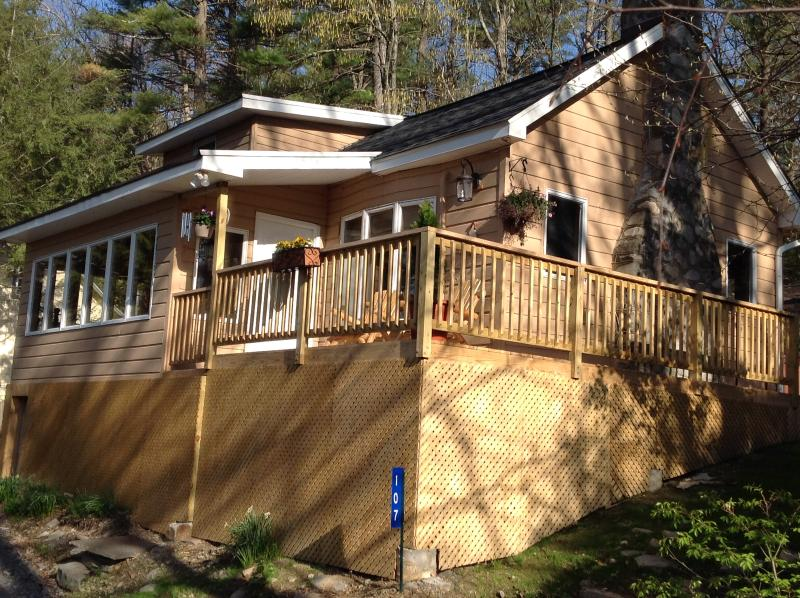 "Front of House - Picturesque ""Treetop Cabin"" in the Woods--Hot Tub! - Dingmans Ferry - rentals"