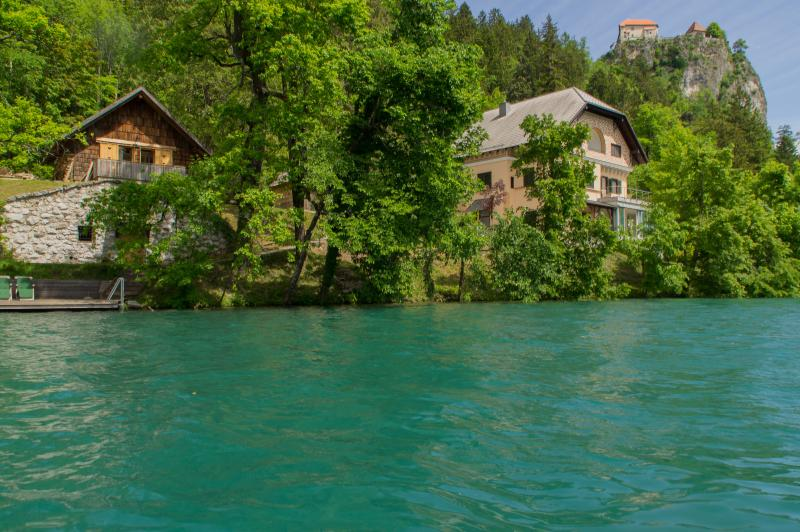 View of the apartment from lake Bled - Private beach house on Lake Bled - Bled - rentals