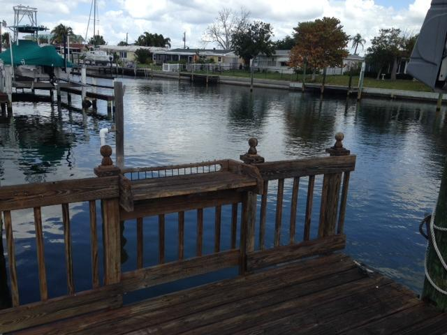 View of canal from dock - Lovely one story home on the water - Palmetto - rentals